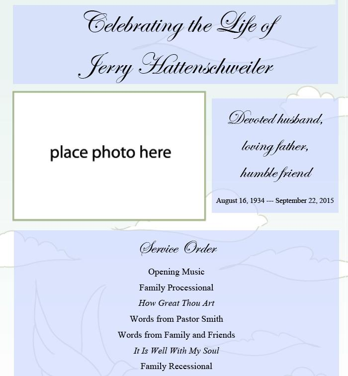 Memorial Invitation Templates Free