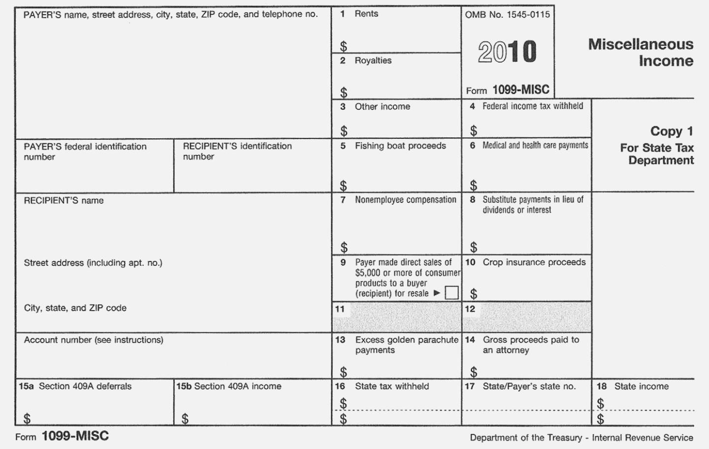 Official Irs 1099 Form Download