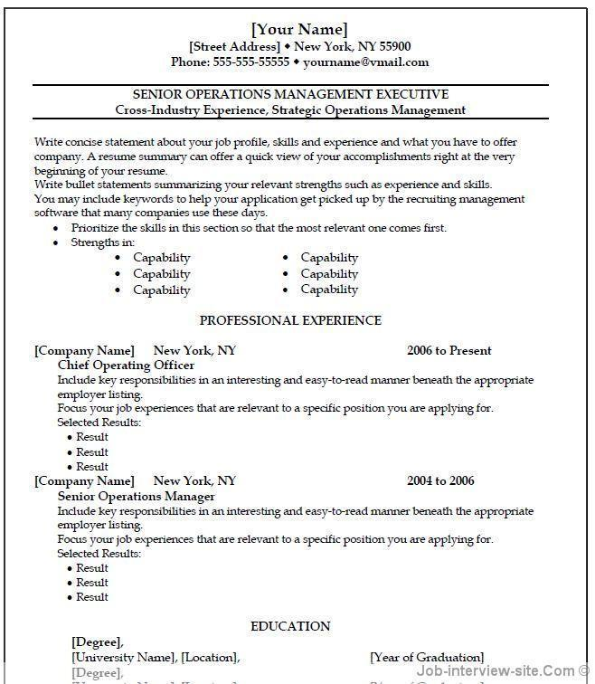 Resume Templates For Microsoft Wordpad