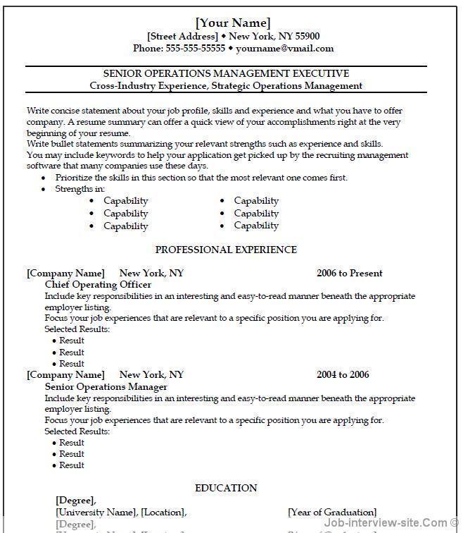 Resume Templates For Microsoft Wordpad