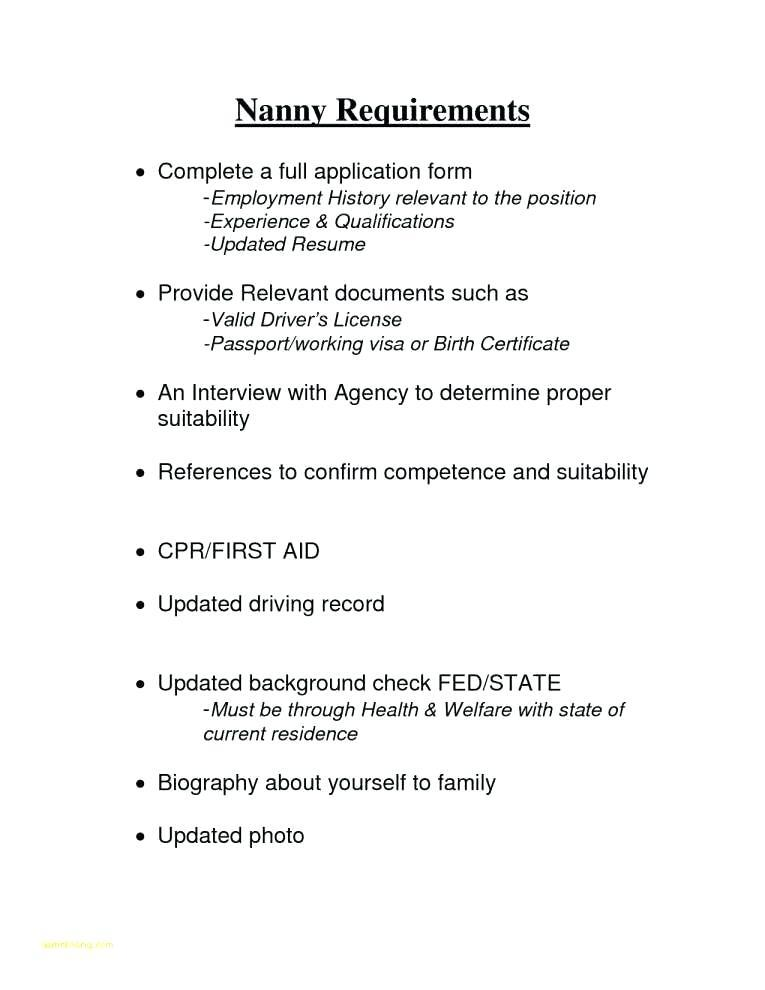 Sample Caregiver Job Application