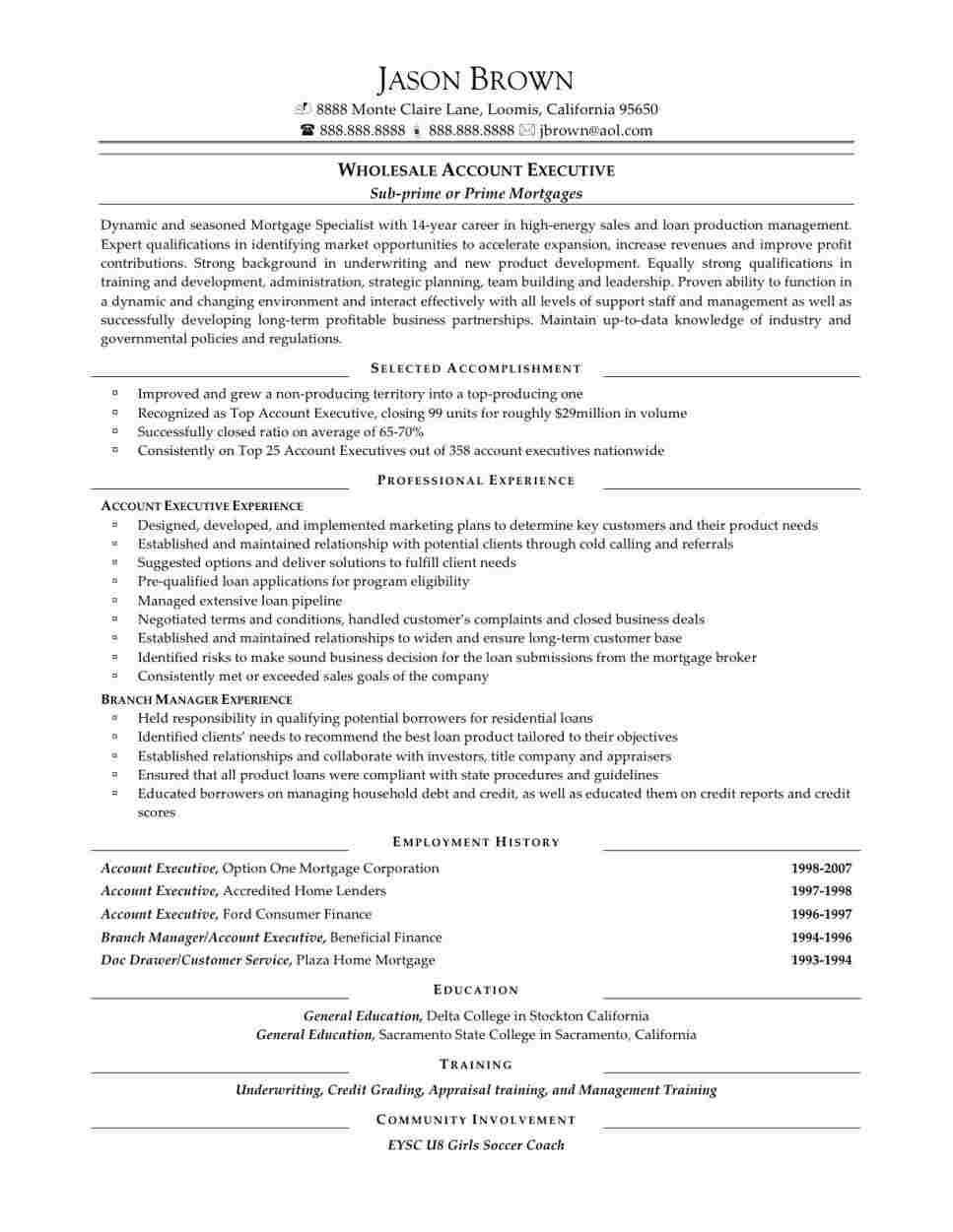 Sample Resume For Sales Executive In India