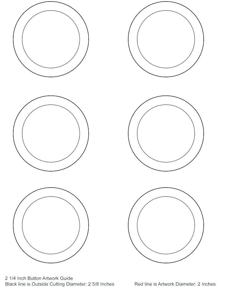 1 Inch Circular Labels Template