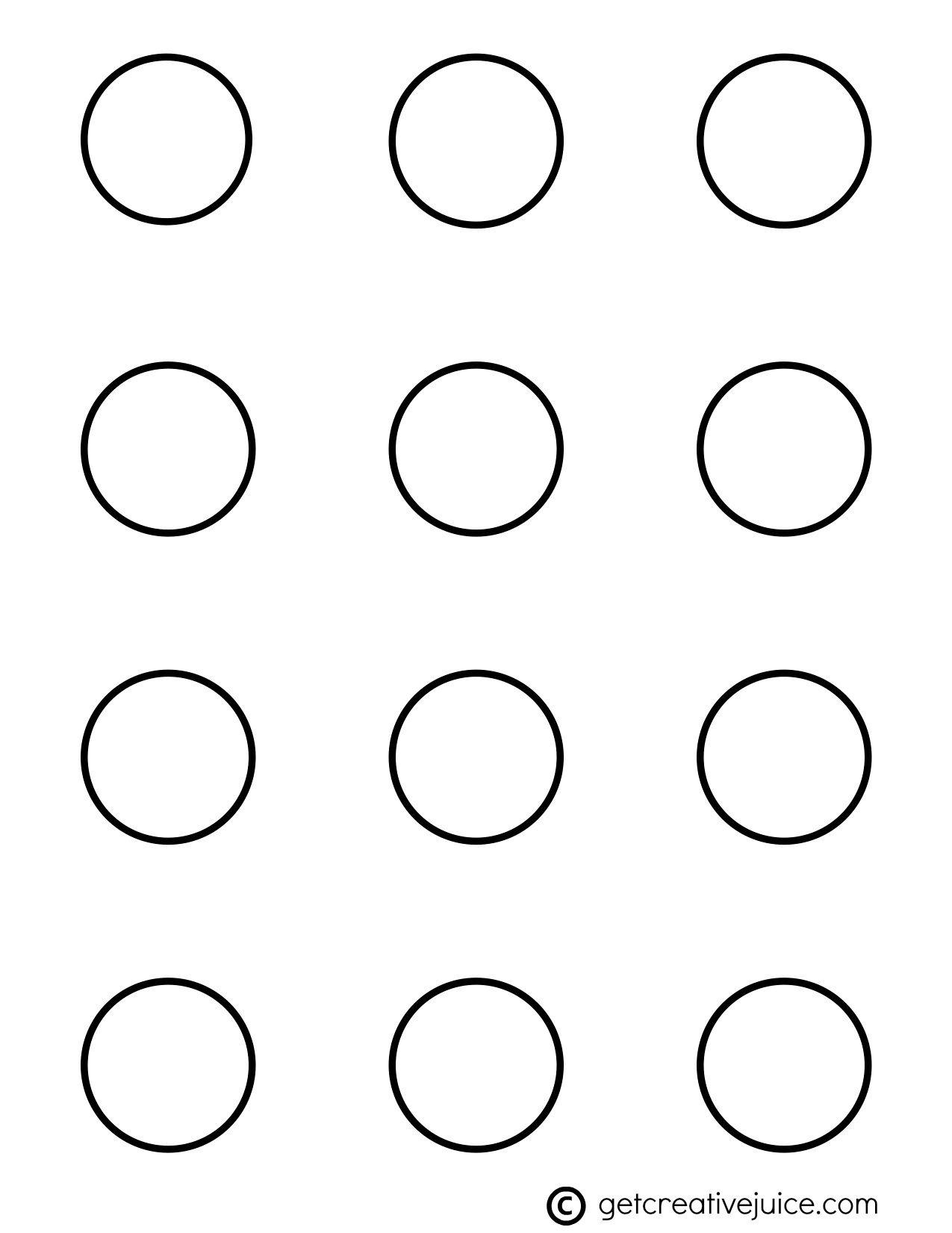 1.25 Circle Label Template Free