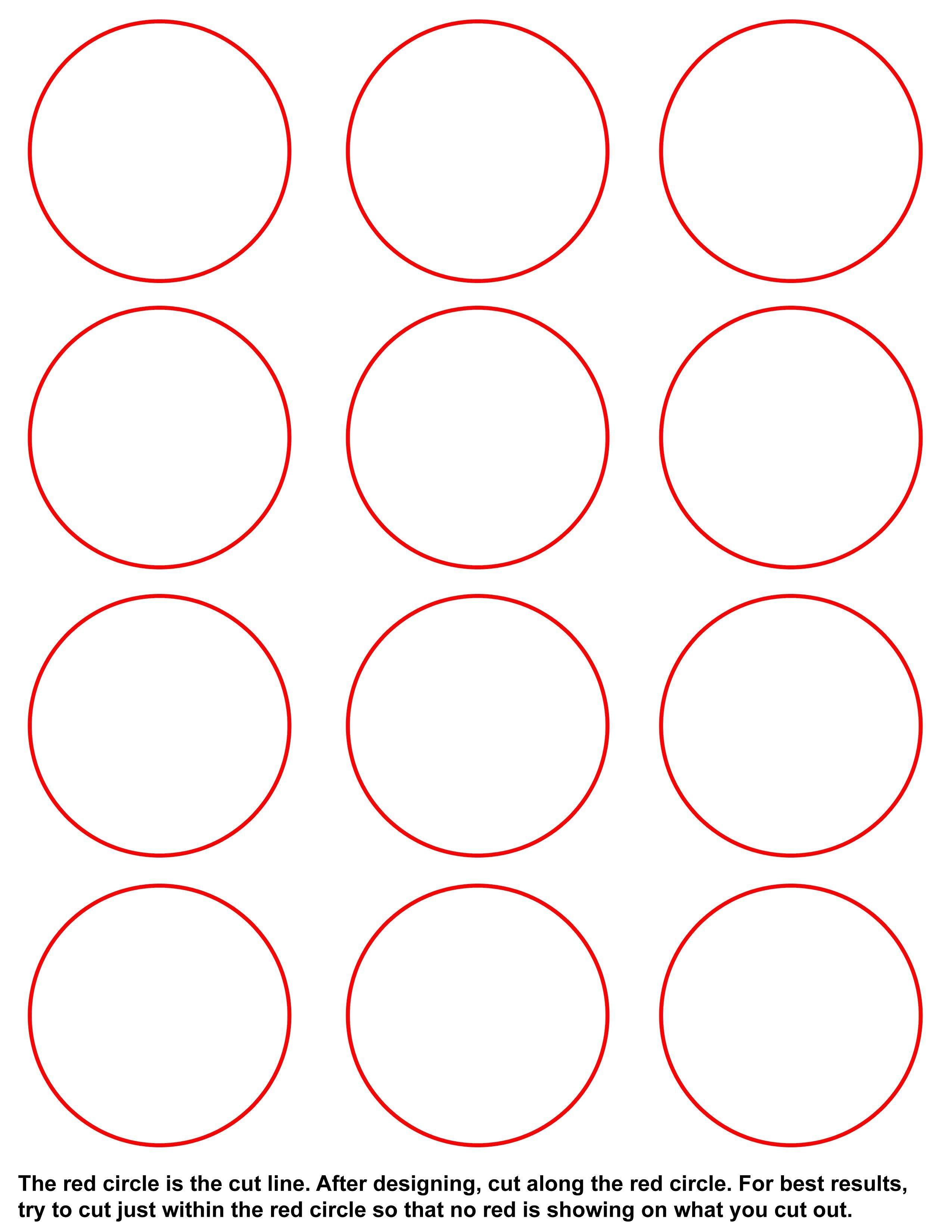 1.5 Circle Label Template