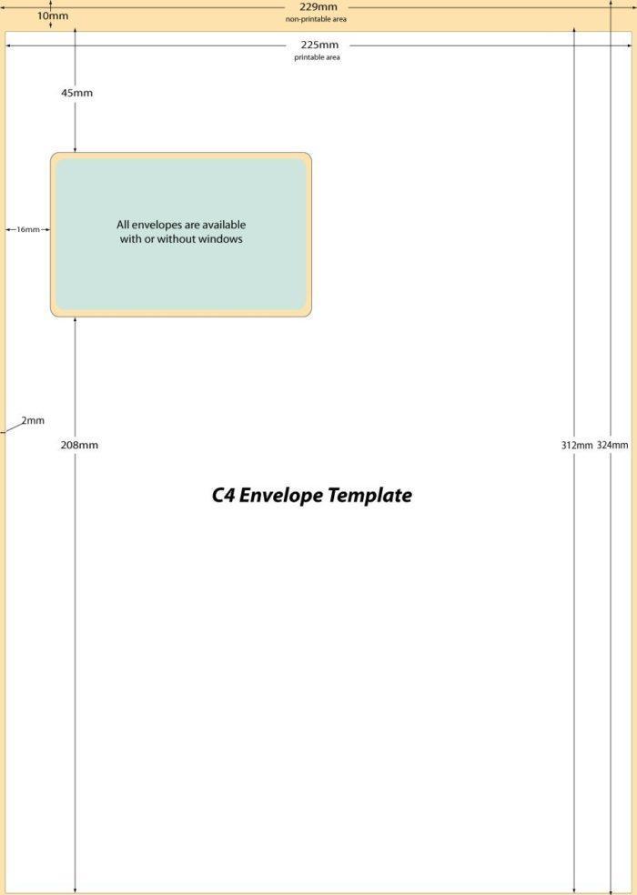 10 Single Window Envelope Template