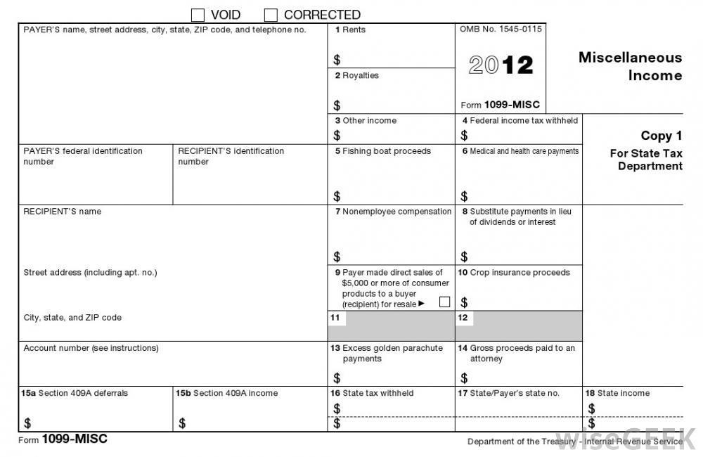 1099 Agreement Form
