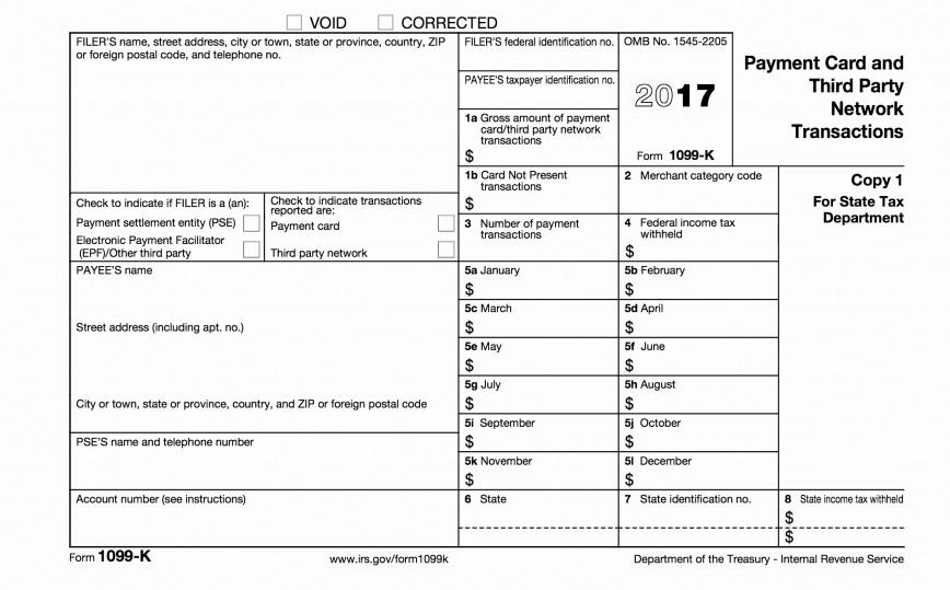 1099 Form 2015 Template