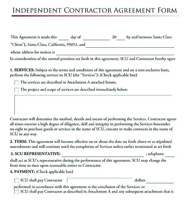 1099 Independent Contractor Agreement Template