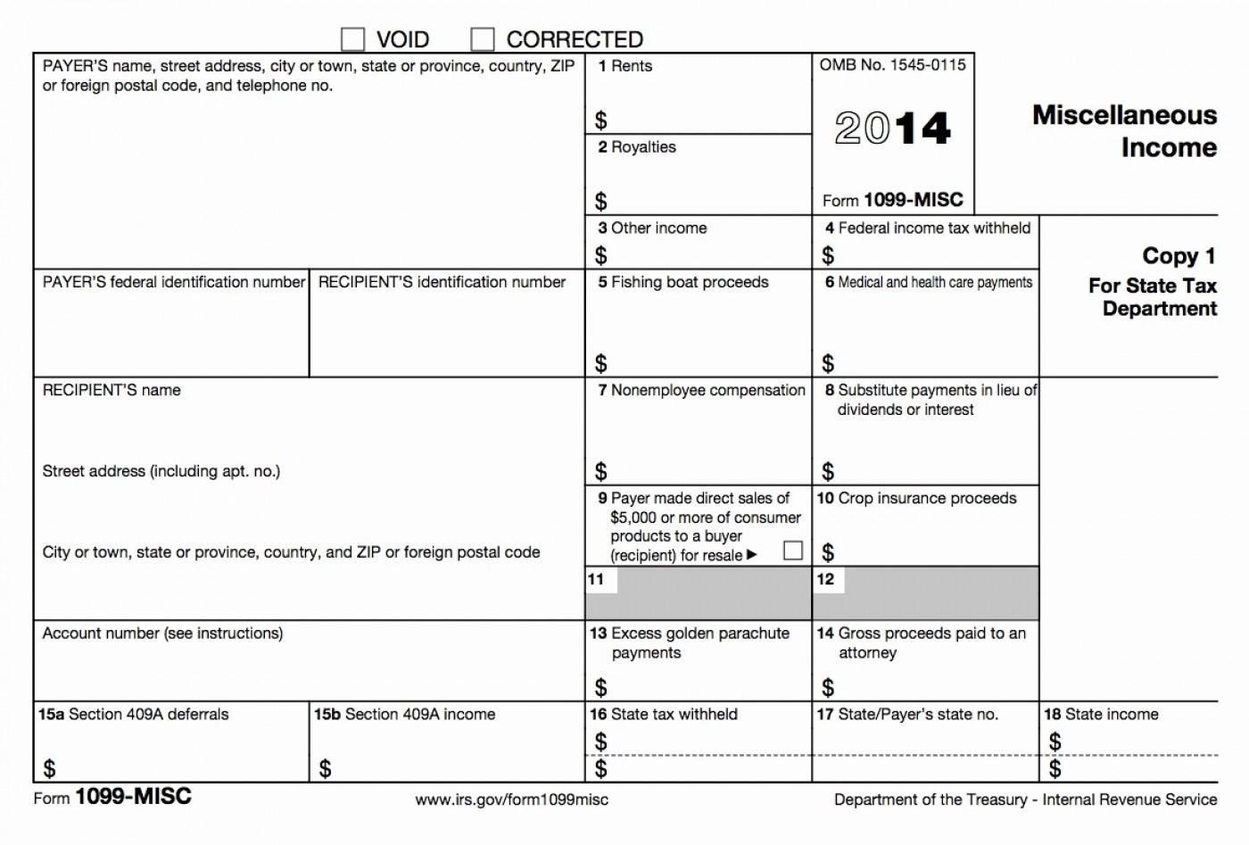1099 Int Form Template