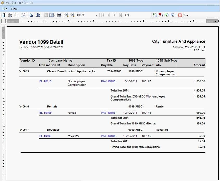 1099 Misc Form Template Excel