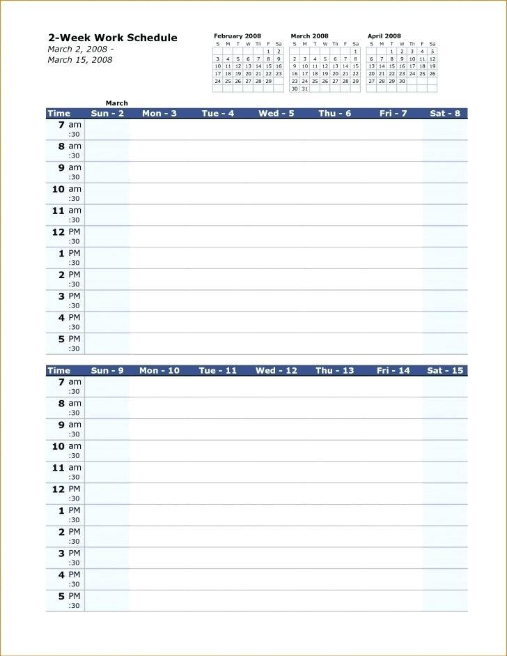 12 Hr Shift Work Schedule Template