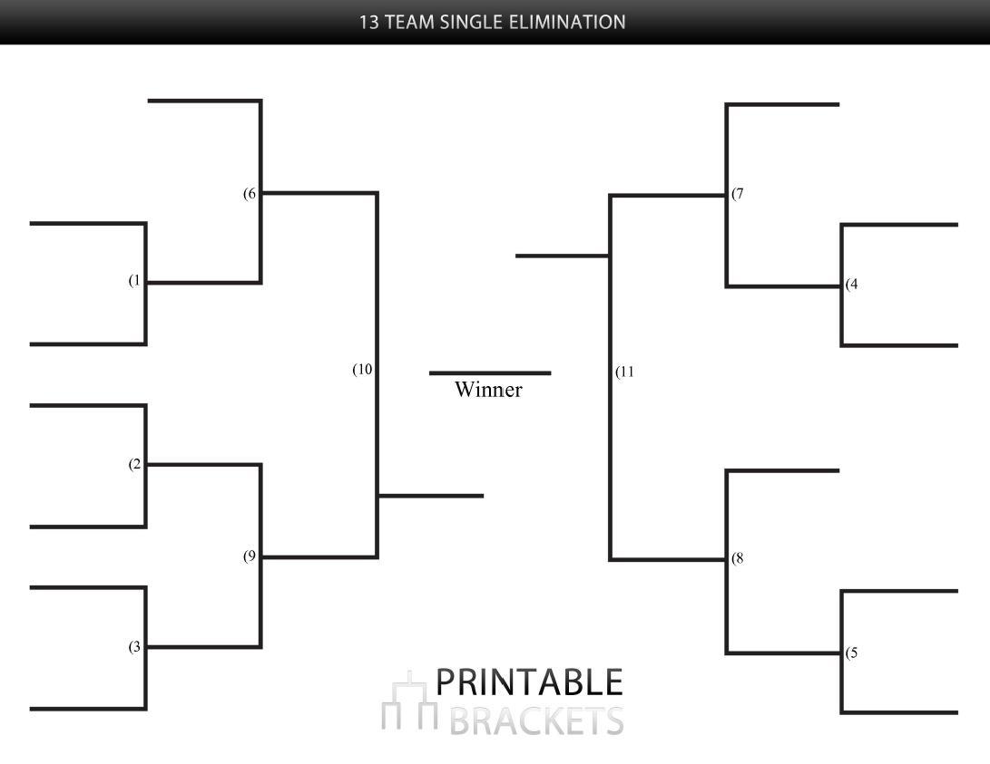 13 Team League Schedule Template