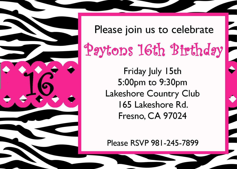 16th Birthday Invitation Maker