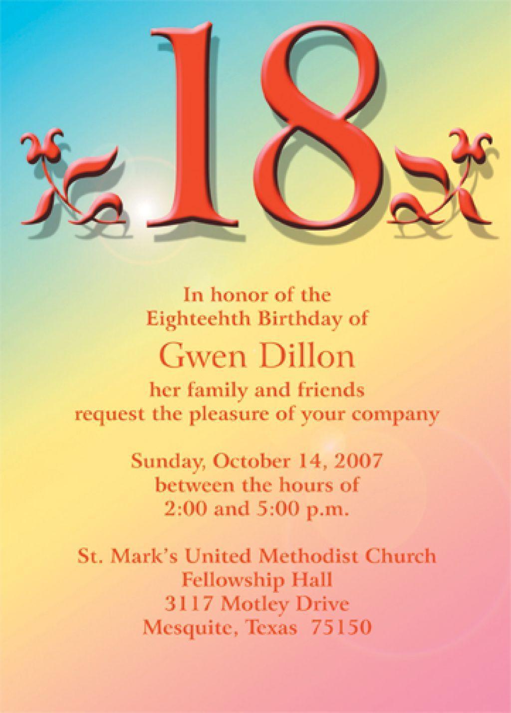 18 Birthday Invitation Layout