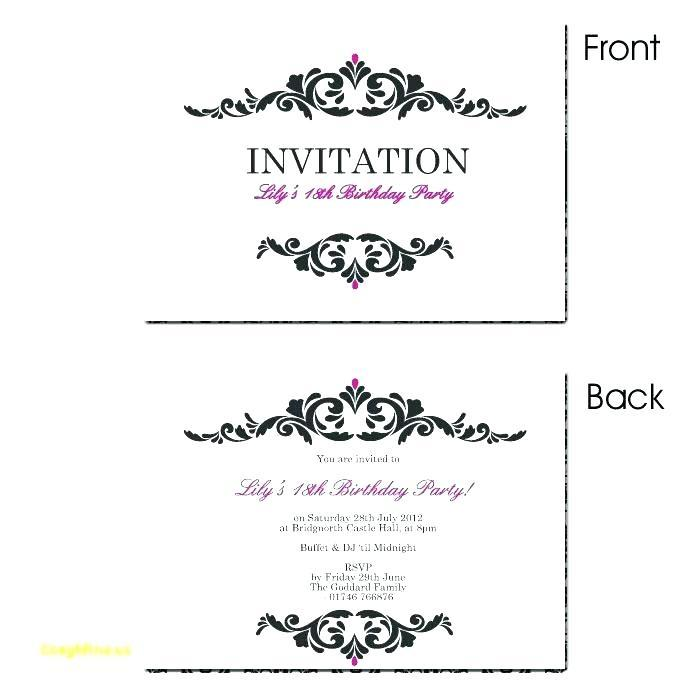 18 Birthday Invitation Samples