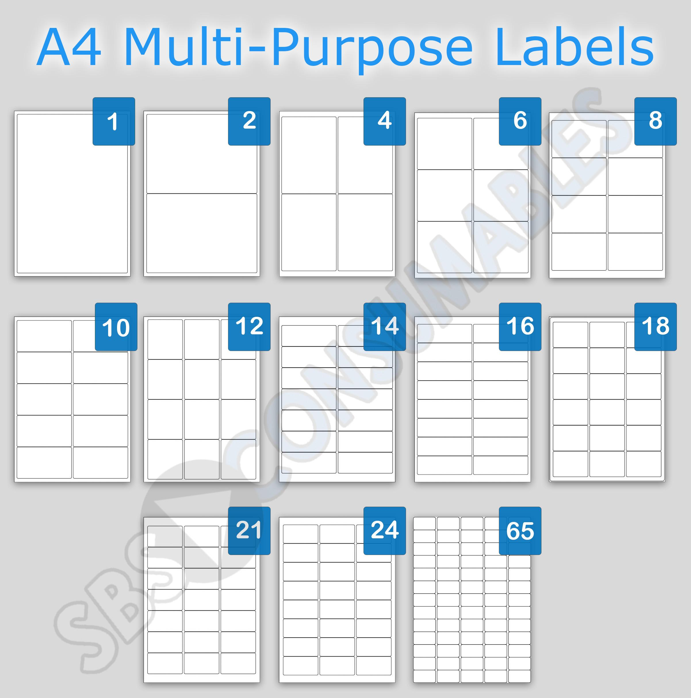 18 Labels Per Sheet Template