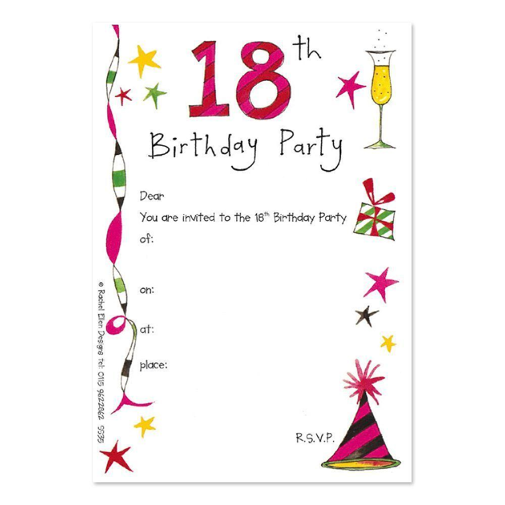 18th Birthday Invitation Maker Online Free