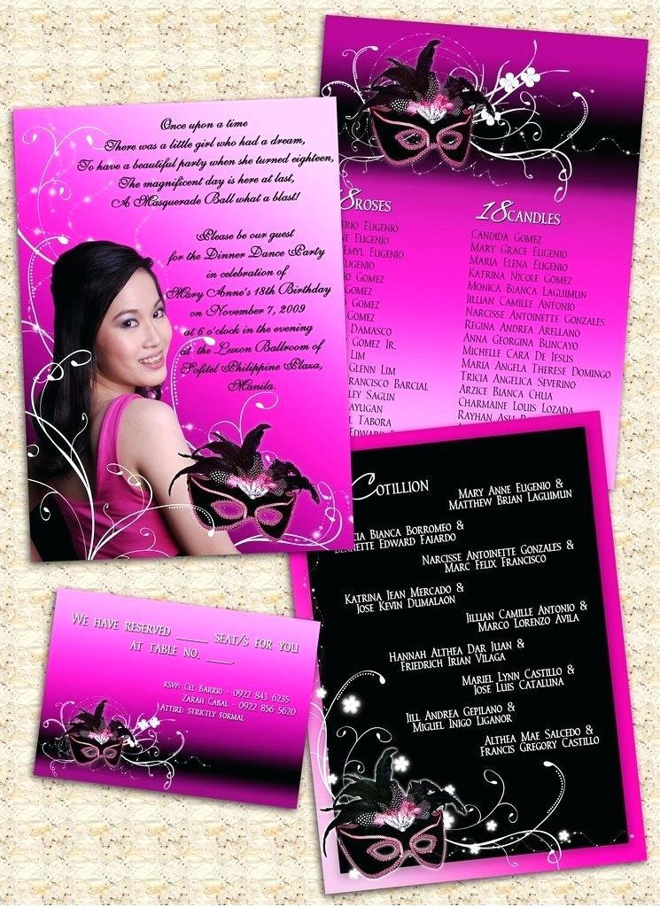 18th Birthday Invitation Samples