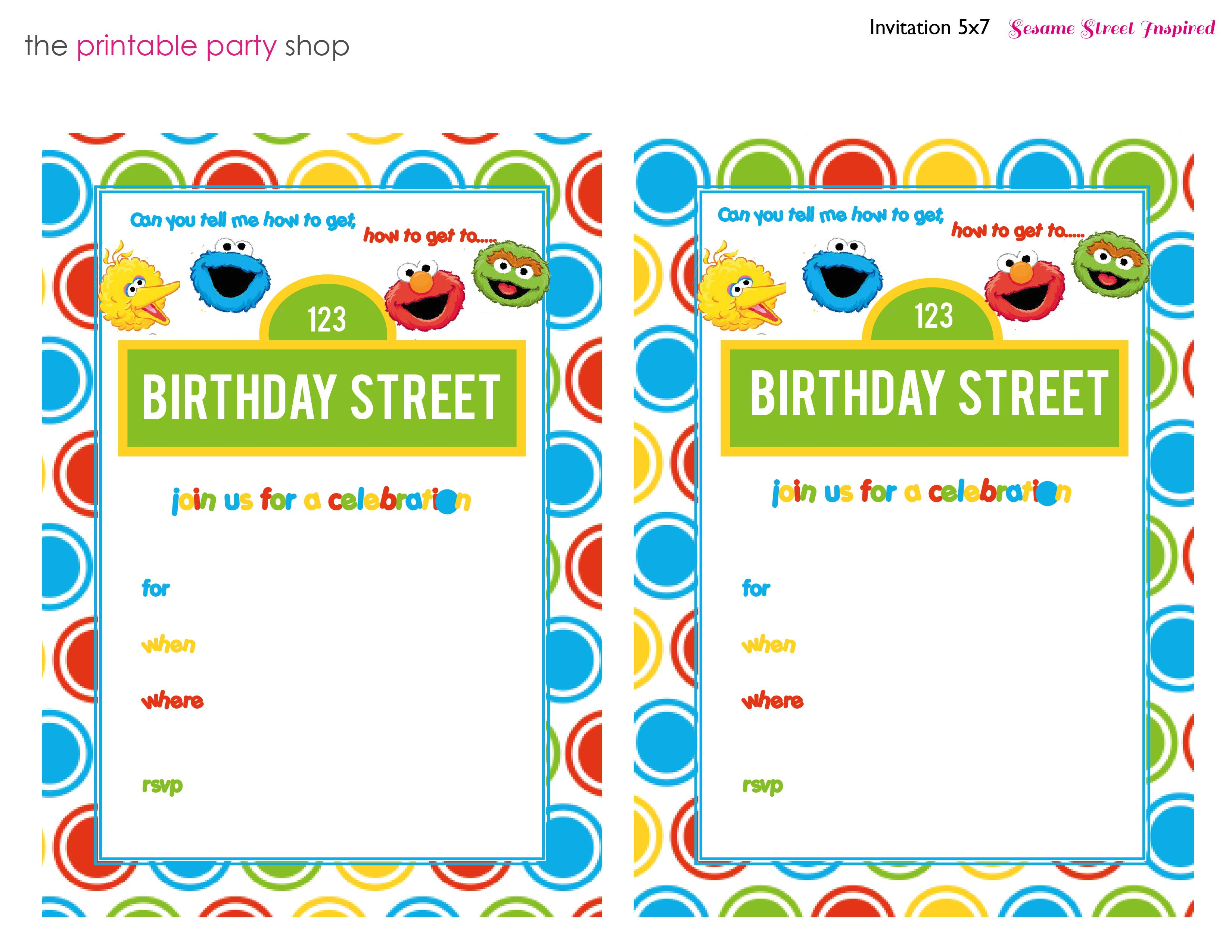 1st Birthday Email Invitation Templates