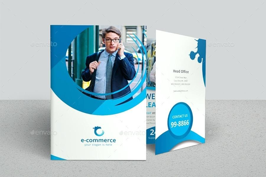 2 Fold Brochure Template Free Download Word