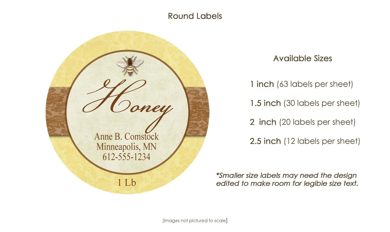 2 Inch Round Label Template 12 Per Sheet