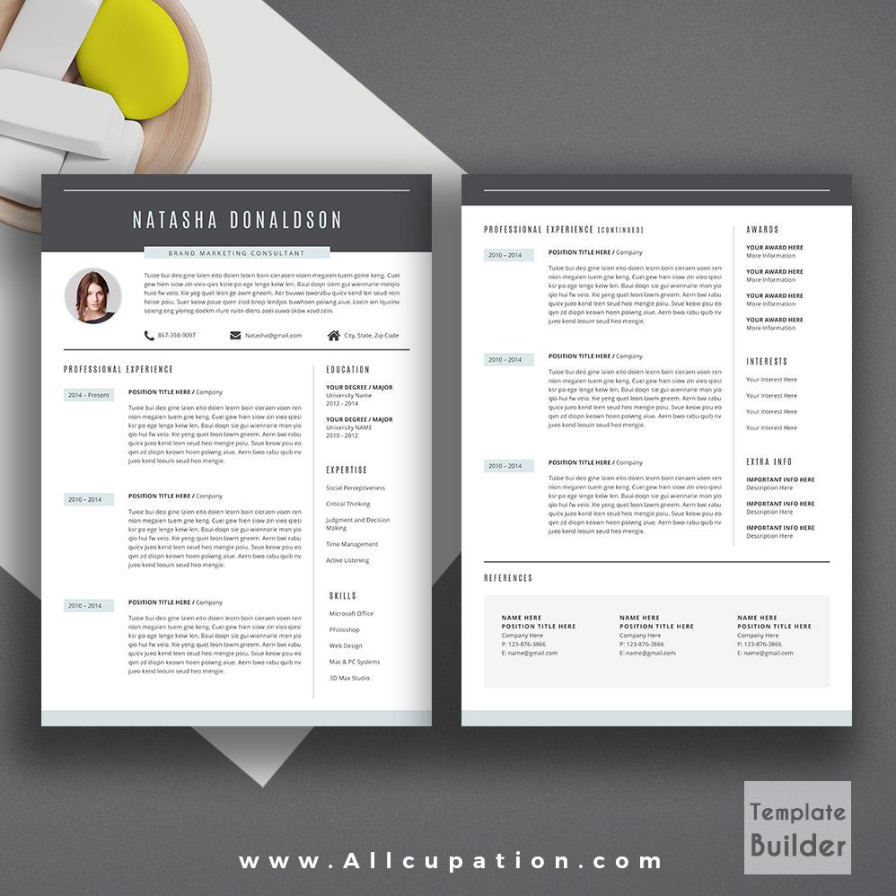 2 Pages Resume Free Template