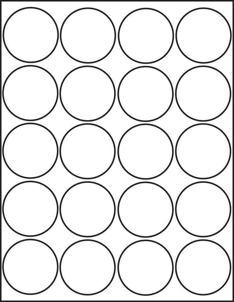 2.25 Round Label Templates