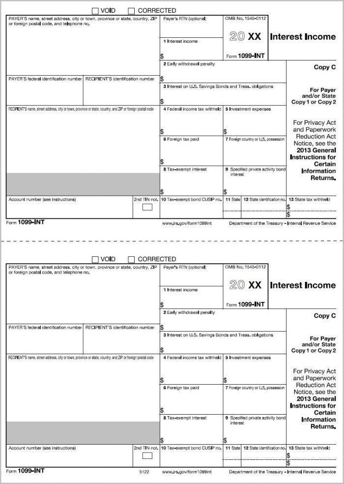 2013 W2 Form Fillable