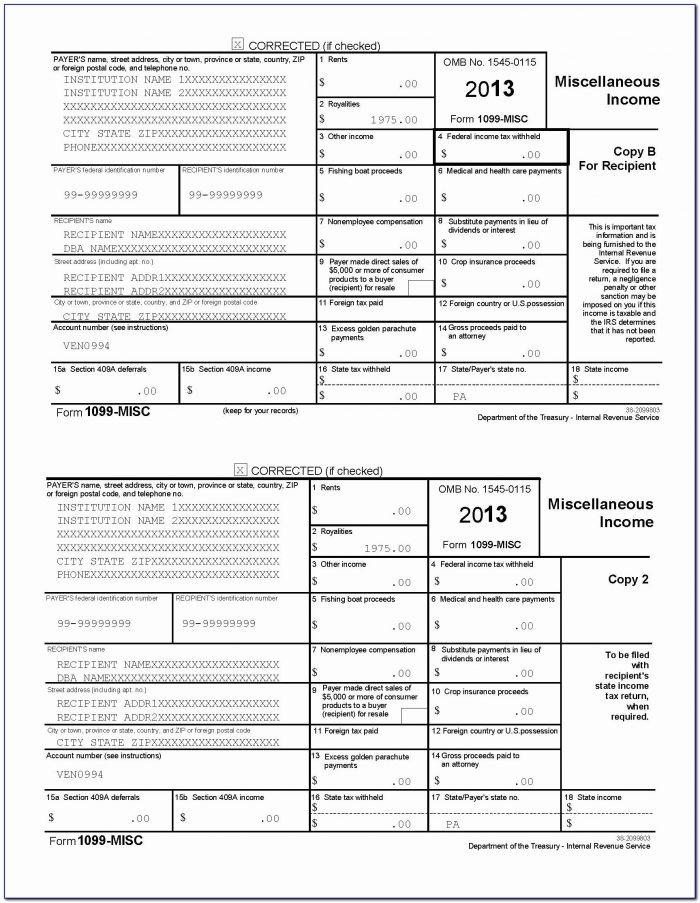 2015 Form 1096 Template