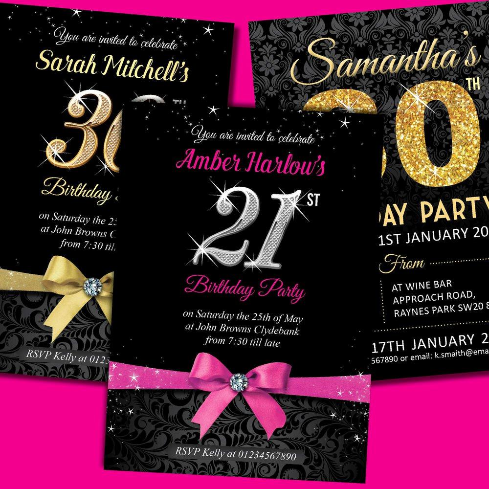 21st Birthday Invitations Templates