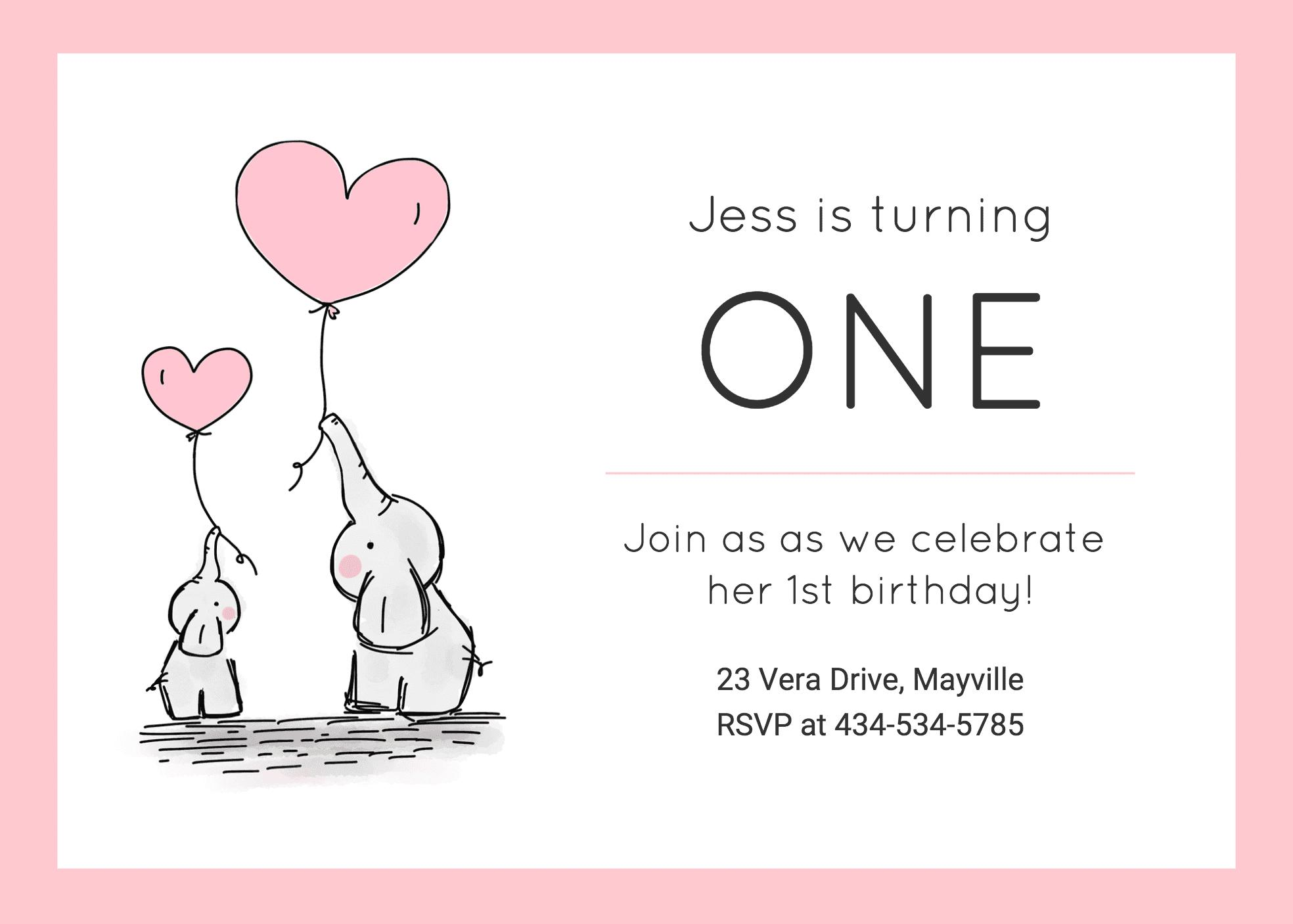21st Birthday Invite Templates