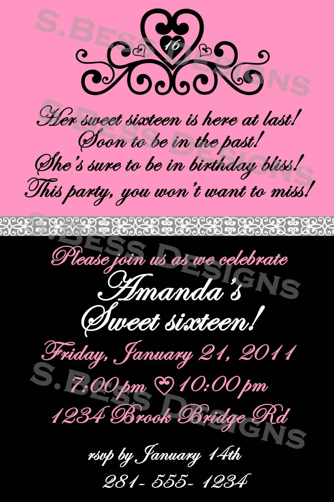 21st Birthday Party Invitations Free Templates