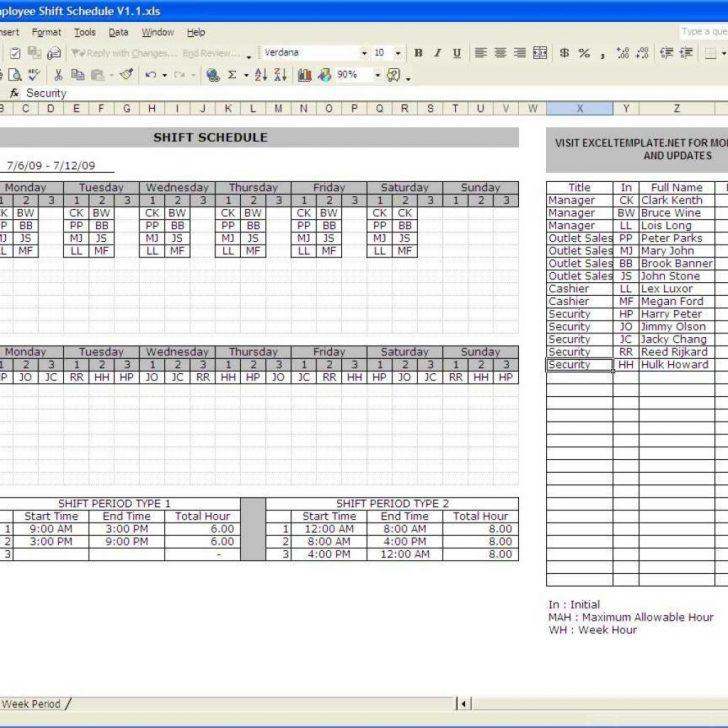 24×7 Shift Schedule Template Excel