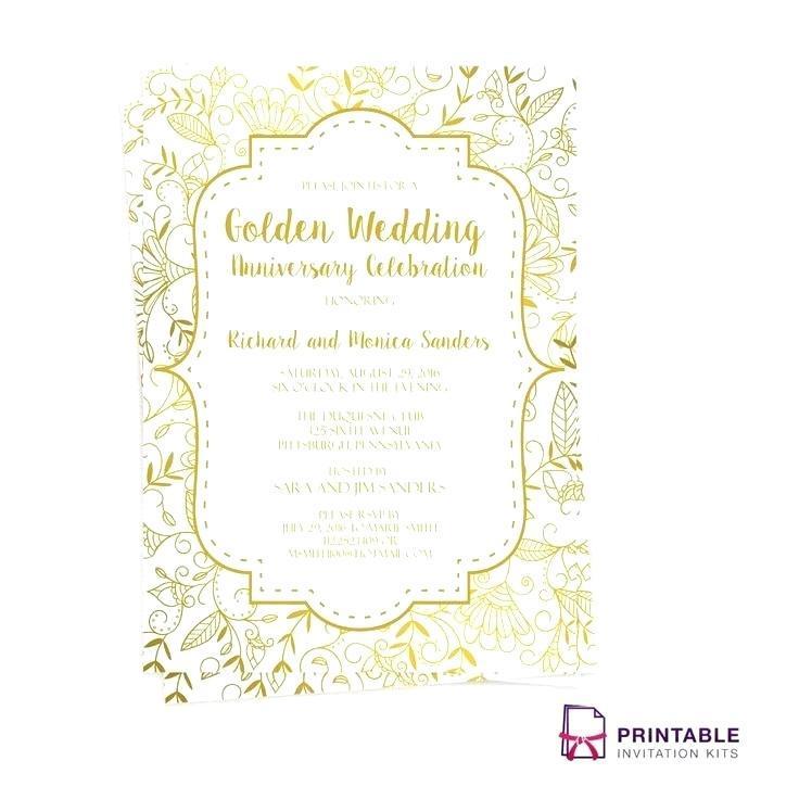 25th Anniversary Invitation Card Templates