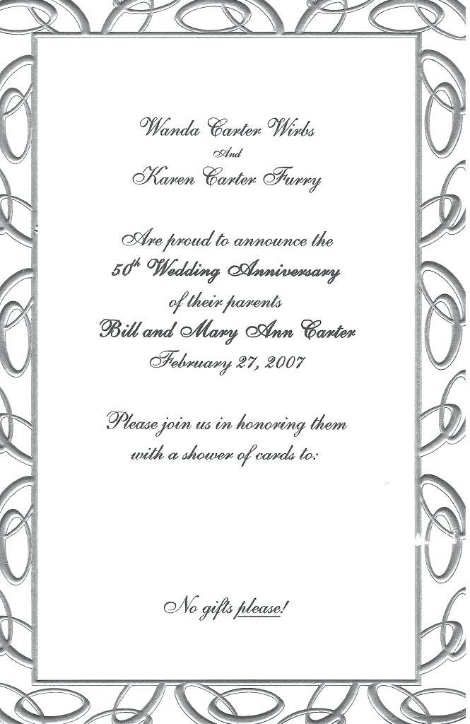 25th Wedding Anniversary Invitations Templates Free Download