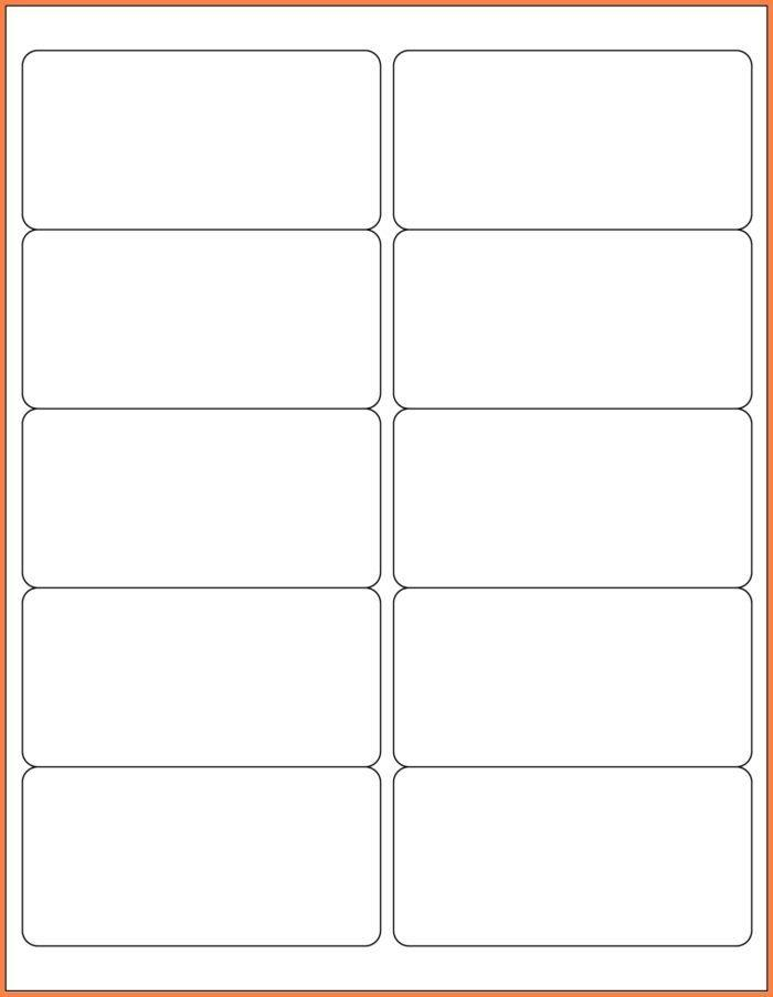 2×4 Label Template Download