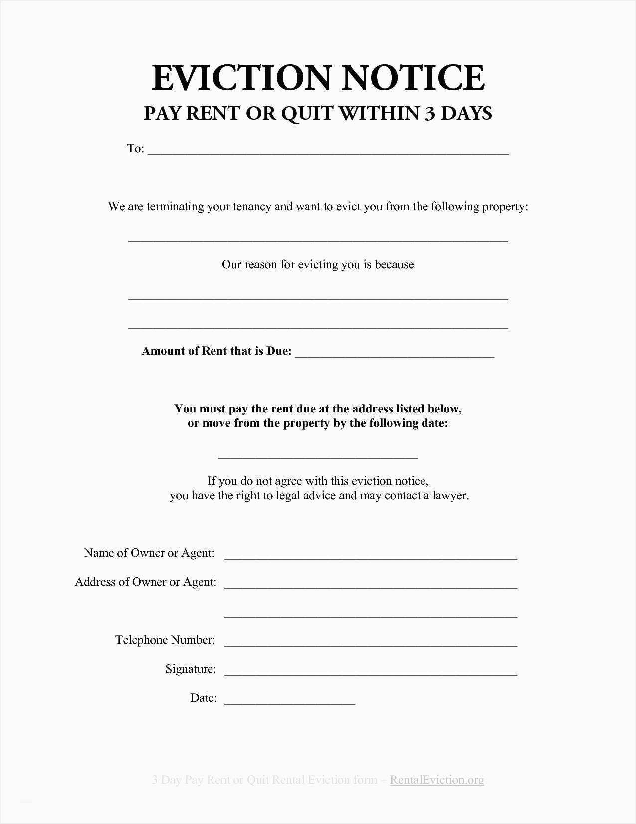 3 Day Notice To Pay Or Quit Template