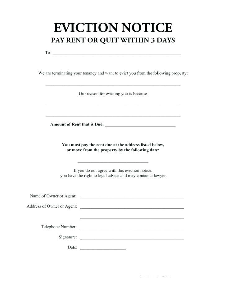 30 Day Eviction Notice Template Free