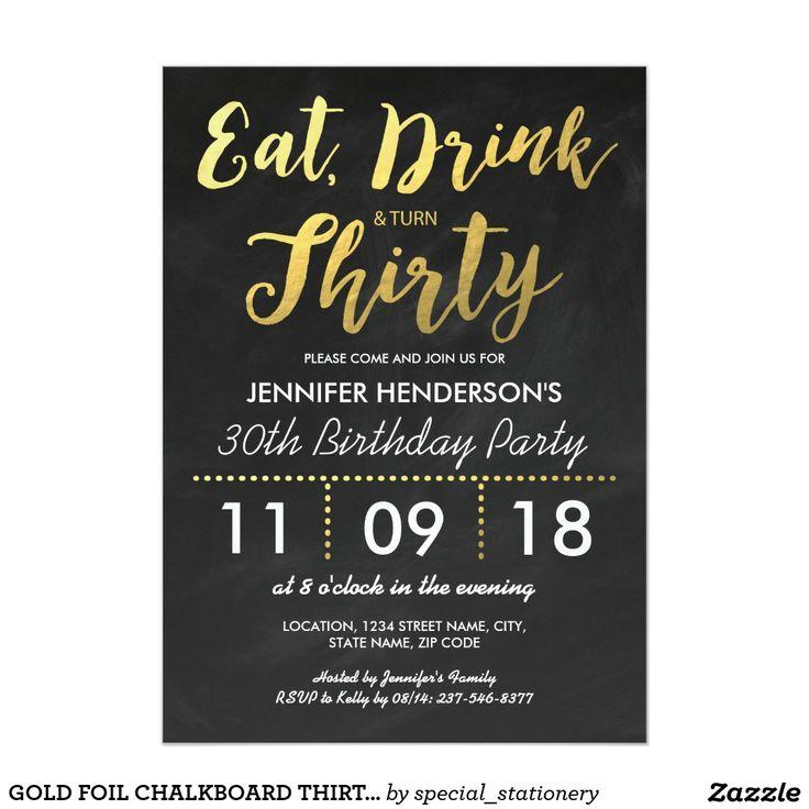 30th Birthday Dinner Invitation Wording
