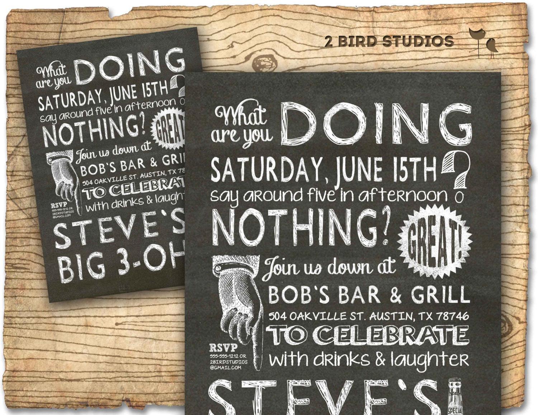 30th Birthday Invitations Templates Free Printable