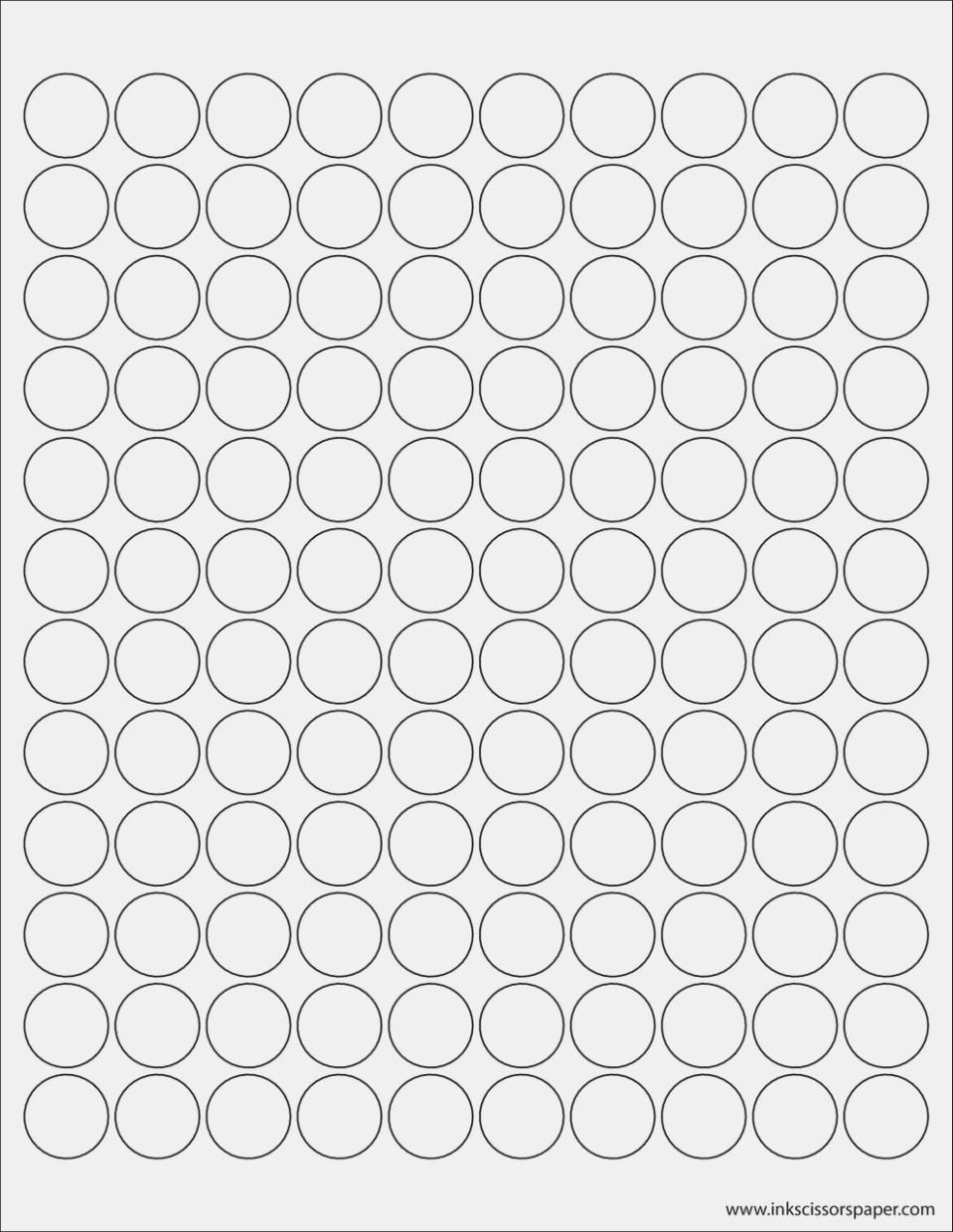 34 Inch Circle Label Template