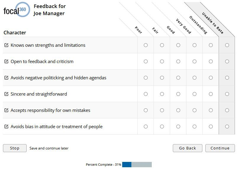 360 Feedback Survey Template