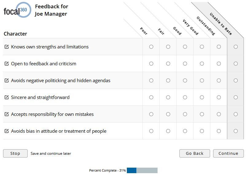 360 Survey Question Examples
