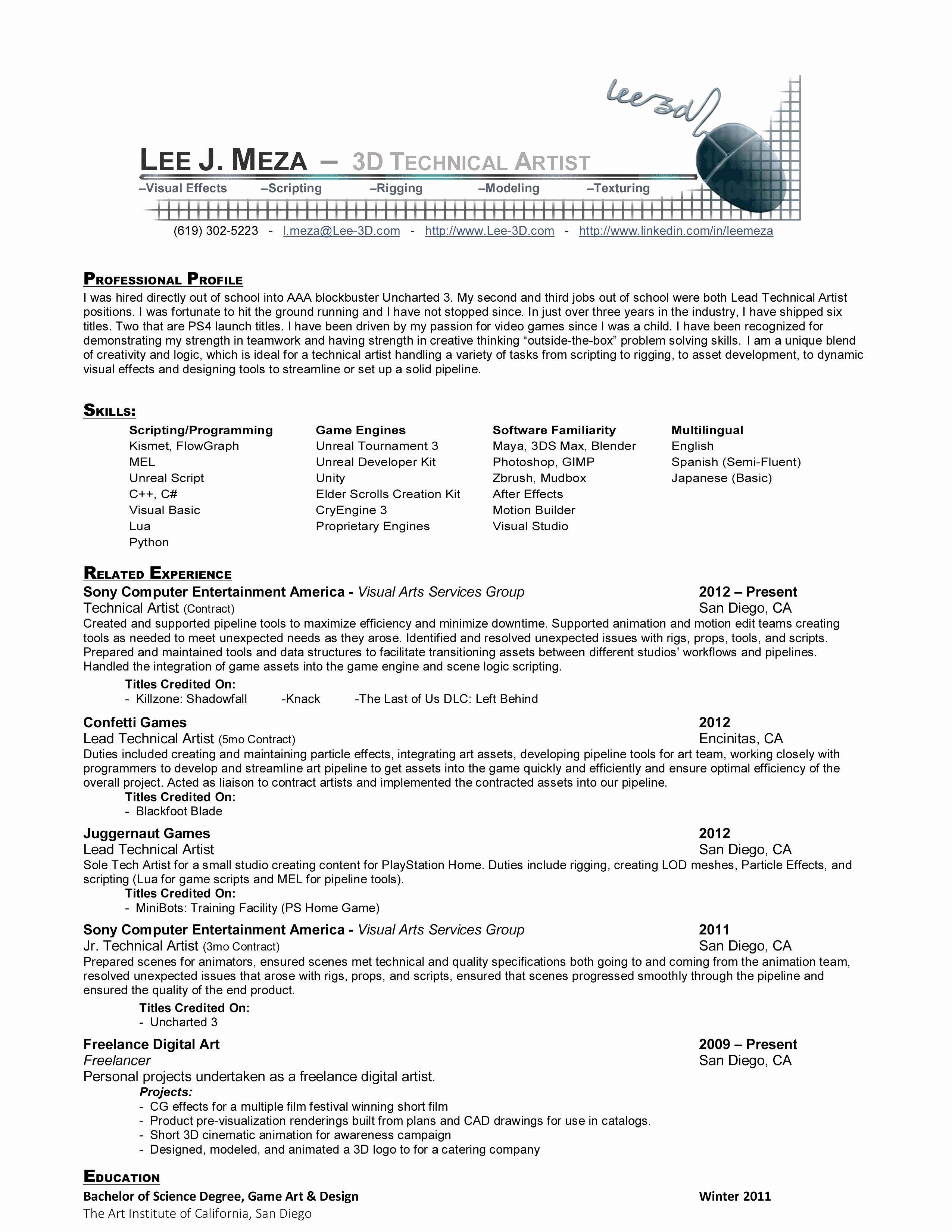 3d Designer Resume Templates