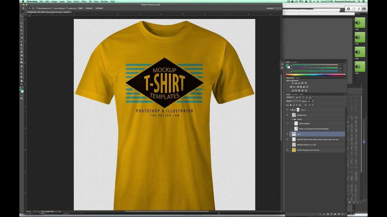 3d T Shirt Template Photoshop