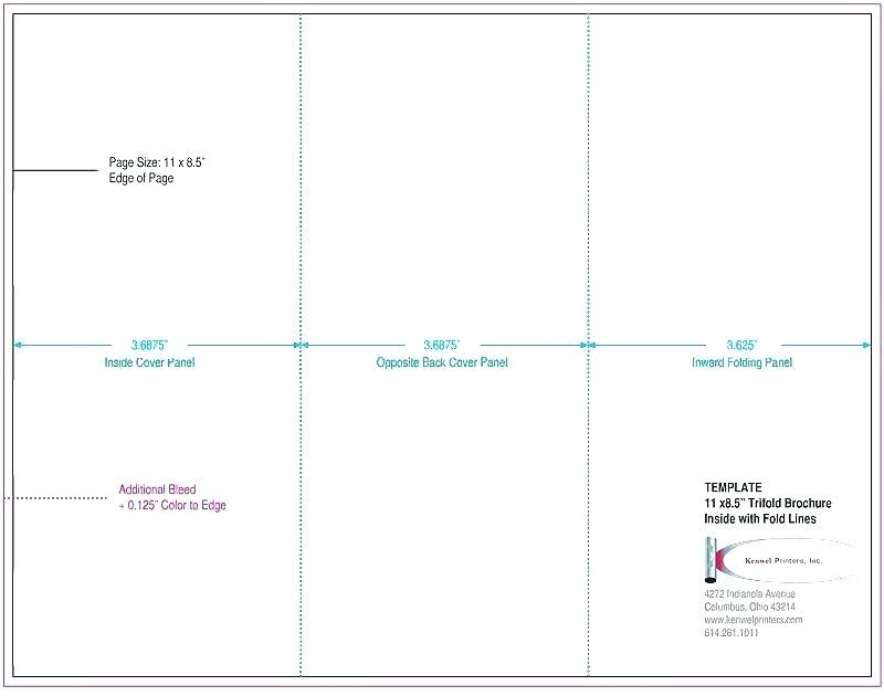 4 Panel Legal Size Brochure Template