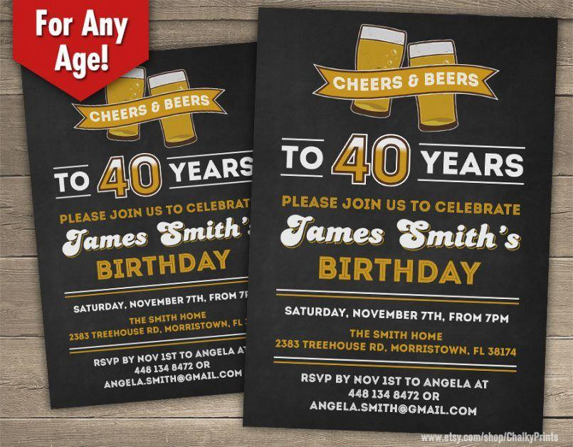 40th Surprise Party Invitation Template