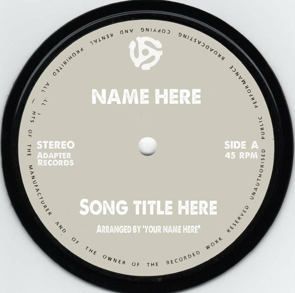 45 Vinyl Label Template