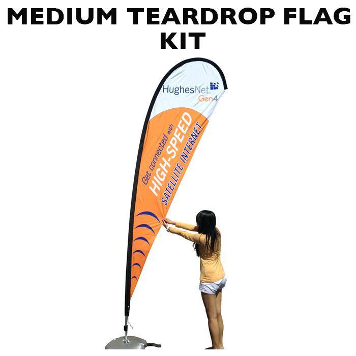 4m Teardrop Banner Template